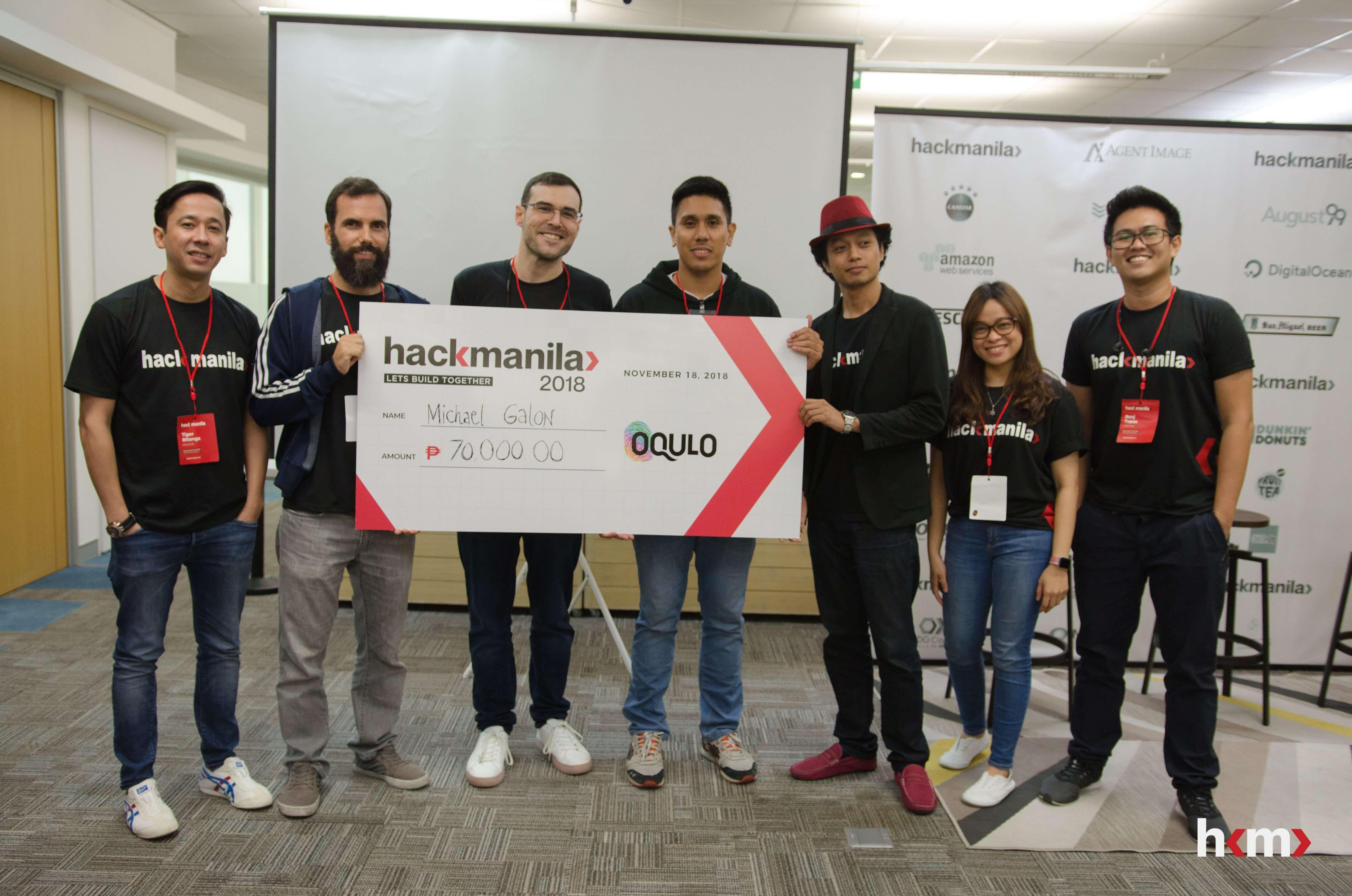 Hack Manila PartnerPortal Challenge Winner: Michael Galon with mentors