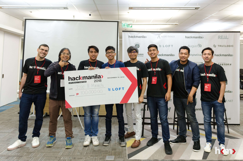 Hack Manila LokaLocal Challenge Winner: Jose Miranda III with mentors
